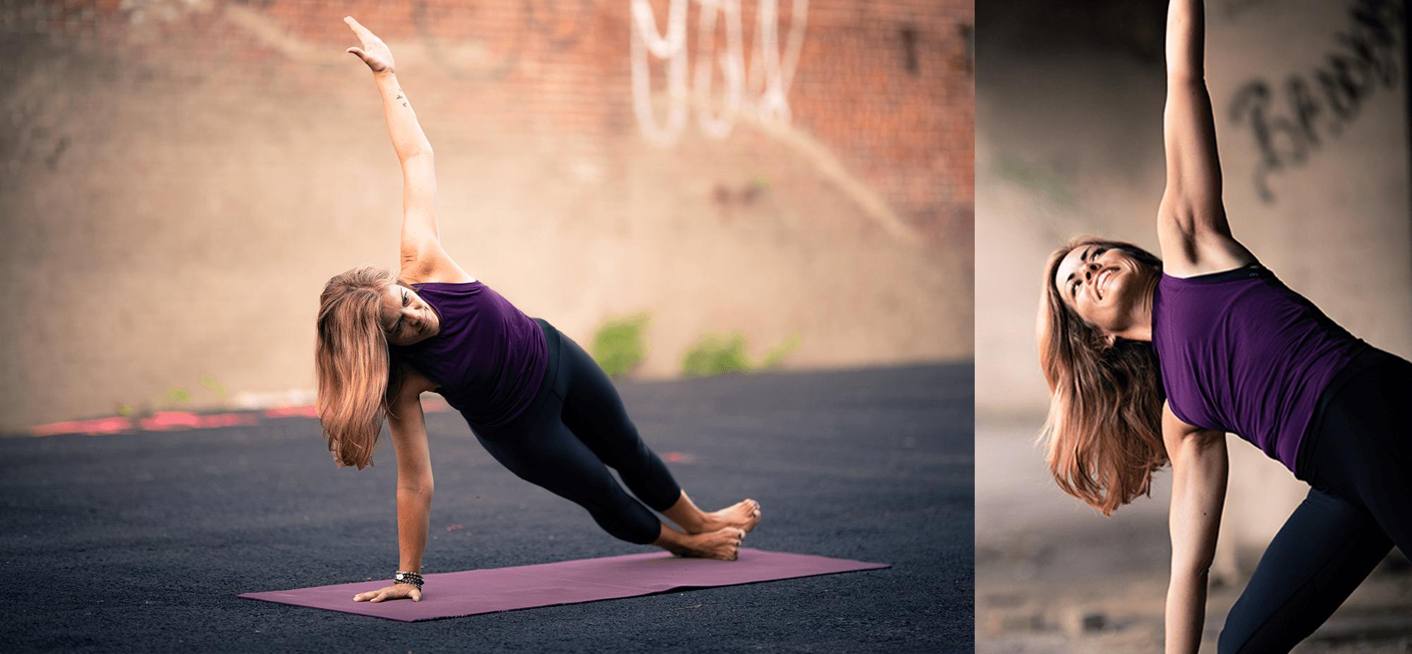 Christine Tresselt 2 yoga poses tablet